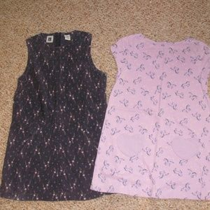 Two dresses, one Gap, one Lands End, size L age 10
